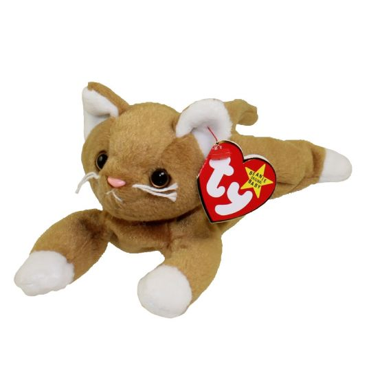 TY Beanie Baby - NIP the Gold Cat (7.5 inch)
