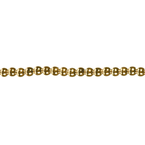 60 inch Pearl Strand - Prepack - Round - Gold - 3mm Pearls