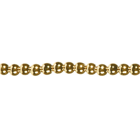60 inch Pearl Strand - Prepack - Round - Gold - 6mm Pearls