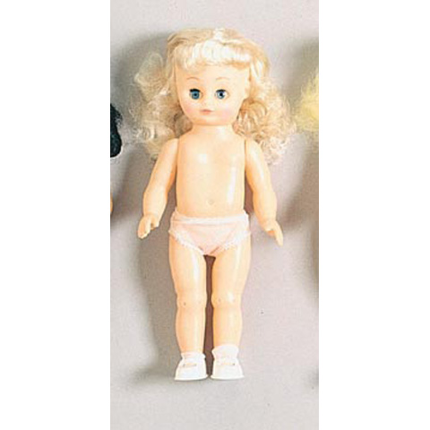 Full Doll - Caucasian Girl - Platinum Hair - 13.5 inches