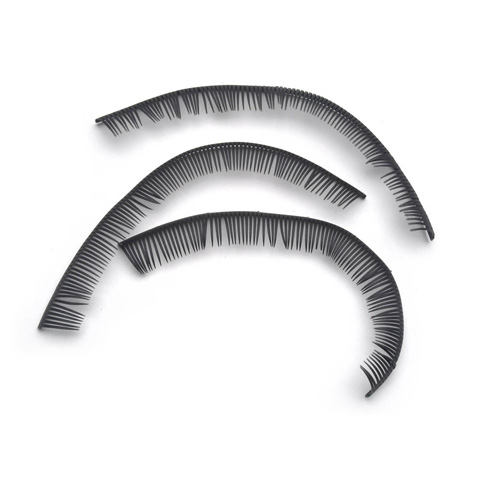Eyelashes - Black - 5.75 inches - 6 pieces