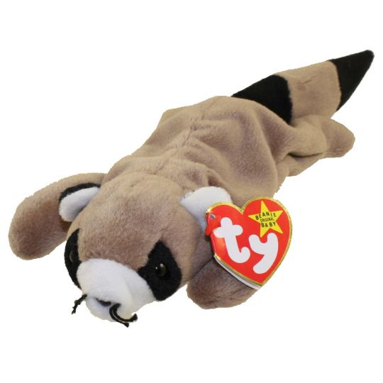 TY Beanie Baby - RINGO the Raccoon (8 inch)
