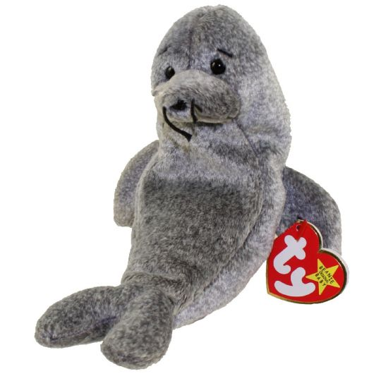 TY Beanie Baby - SLIPPERY the Seal (7 inch)