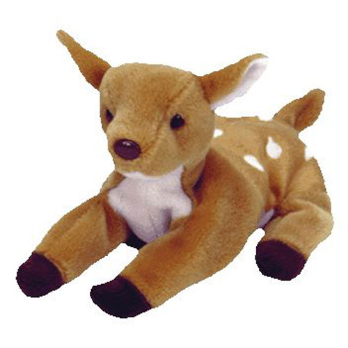 TY Beanie Baby - WHISPER the Deer (6.5 inch)