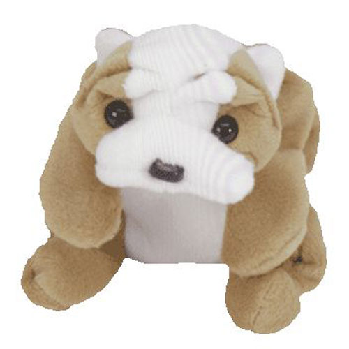 TY Beanie Baby - WRINKLES the Bull Dog (8 inch)